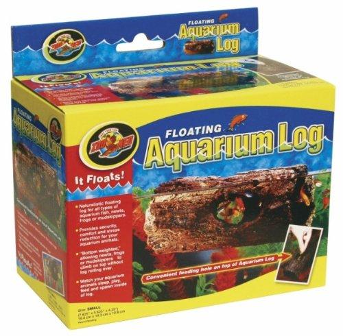 Zoo Med FA-10 Floating Aquarium Log, S schwimmendes Versteck für Fische, Holzstammoptik, rollt nicht im Wasser