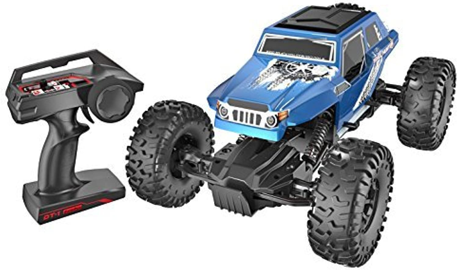 Danchee Trail Hunter 1 12 Scale Remote Control Rock Crawler Off Road Truck, blueee by danchee