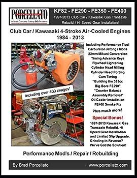 Club Car / Kawasaki 4-Stroke Air-Cooled Engines 1984 - 2013  KF82 - FE290 - FE350 - FE400 Including 1997 - 2013 Gas Transaxle