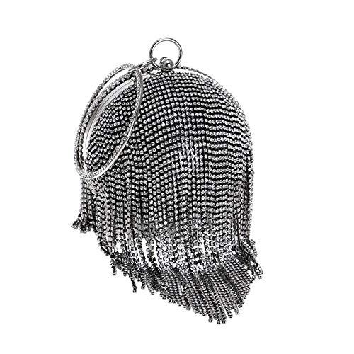 Warm Thuis Bruiloft Party Gift Vrouwen Koppeling Diner Tas Kassen Mini Diamant Avondtas Mode Strass Elegant Banket Pakket Draagbare Bal Diameter 13cm Leuk