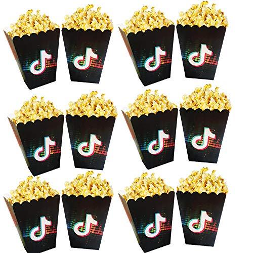 12 PCS Tik Tok Popcorn Snack Box...