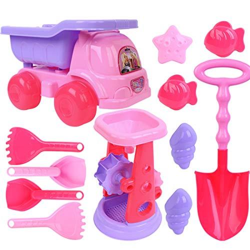12che Sandspielzeug mädchen, 6St Sandspielzeug Strandspielzeug mit Strandbuggy für Kinder