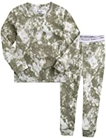 VAENAIT BABY Upto 12Y Toddler Kids Boys Girls 100% Cotton Marbling Sung Fit Sleepwear Pajamas 2pcs Pjs Set