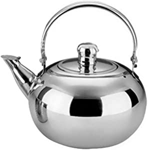 Small Stainless Gooseneck whistle kettle Teapot Coffee Pot, Tea Kettle Suitable for gas stove/induction cooker/electric heater 1L/1.5L/2.5L.