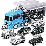 Injoyo Set De 7 Piezas De Juguete De Transporte De Vehículo Mini Fundido A Presión En Vehículos Carrier Trucl Play