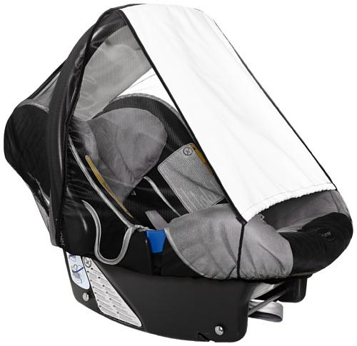 sunnybaby 11186 - Universal Sonnenschutz für Babyschale, Sonnendach mit Insektenschutz   UV Schutz UPF 50+   vielseitig verstellbar   mit Eingriff - Farbe: NATUR   Qualität: MADE in GERMANY