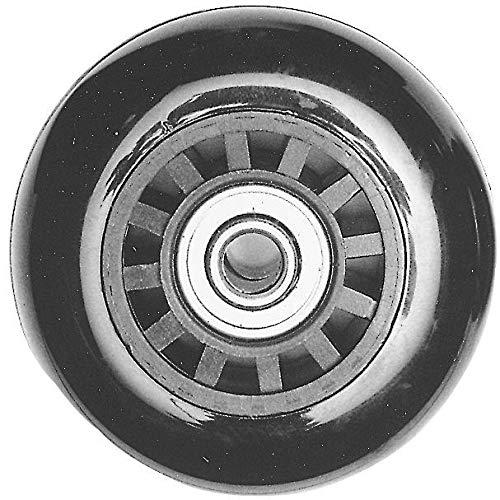 Ohio Travel Bag Ball Bearing Inline Skate Wheel, 53mm, Black, Plastic, L-3029
