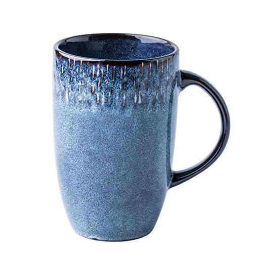 Accesorios de Mesa La Taza de café Resistente al Calor de la Alta Taza de Porcelana Retra con la manija Bolsas de té de Latte, el Jugo, la Gran Capacidad, Reutilizable para la ofi