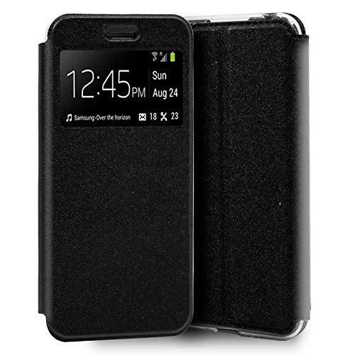 iGlobalmarket Funda Flip Cover Tipo Libro con Tapa para Huawei Y5 (2019) Liso Negro
