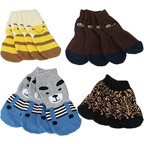 LifeWheel Traction Control Kat Hond Sokken Indoor Rubber Nonskid Paw Protector Katoen Sokken Willekeurige Kleur, 4XL, 8 Pieces/Package (Random Color)