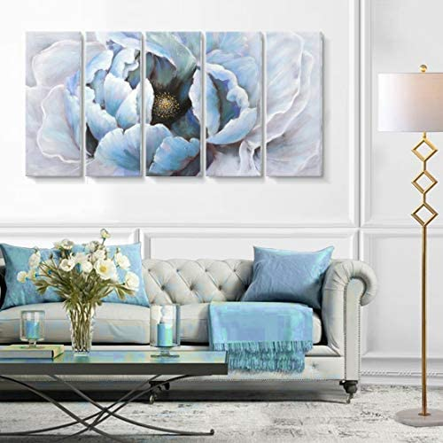 Large Modern Abstract Floral Wall Art Living Room Hand Painted Blooming Flower Oil Painting product image