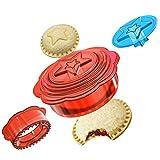 Stampi Biscotti Sandwich Cutter, Cookie Cutter Sandwich Toast Sealer,DIY Sandwich Maker Stampi per Biscotti Bambini a forma di stella Della Formine Biscotti (Sei in uno)