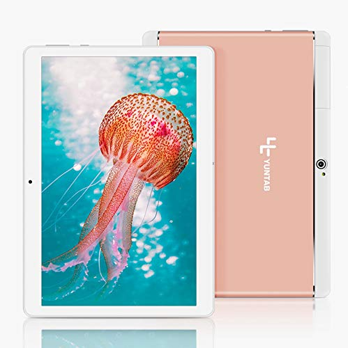 YUNTAB 10.1 inch Unlocked 3G Tablet Smartphone, Android OS, Support Dual SIM Cards, Quad Core Processor, 16GB Storage, IPS Touch Screen(Rose Gold)