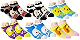 Disney Womens Mickey Mouse Tsum Tsum and Friends Ankle-No Show Socks 6 Pair Pack (One Size, Tsum Tsum)