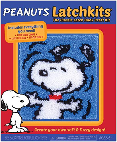 Latchkits Peanuts Snoopy The Classic Latch Hook Craft Kit!