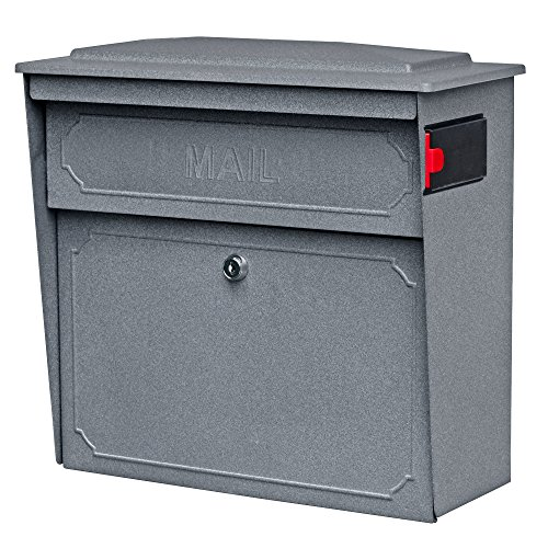 Mail Boss 7171 Townhouse Locking Security Wall Mount Mailbox, Granite