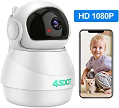 Wireless IP Camera 1080P,Nanny Cam,360 Degree Smart WIFI Camera Pan/Tilt/Zoom with Cloud..