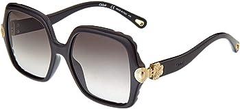 Chloe Black Gradient Square Ladies Sunglasses (CE746S00155)