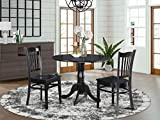 3 PC small Kitchen Table and Chairs set-round Kitchen...