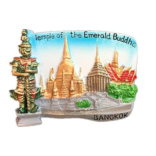 Weekino Bangkok, Tailandia Calamità da frigo 3D Polyresin Tourist City Viaggio Souvenir Collezione Regalo Forte Frigorifero Sticker