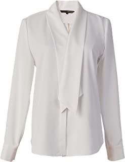 ROEYSHOUSE Women's Long Sleeve Chiffon Buttoned Down/Pullover Work Blouse Shirt with Bow Tie