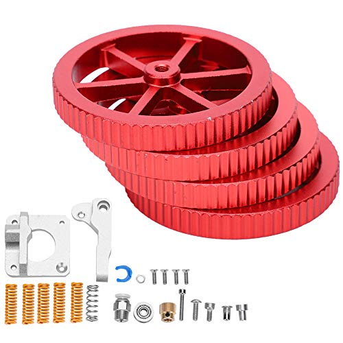 Evonecy 3D Printer Extruder Upgrade Kit, 3D Printer Accessories, 4 Flat‑End Compression Bed Springs Advanced Upgrade Kit Printer Home fo DIY Lovers for 3D Printer