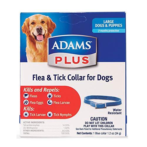 Adams Plus Flea & Tick Collar for Dogs, Large