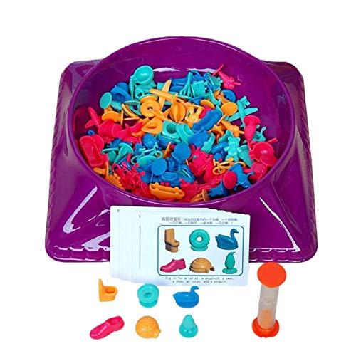 Juego de mesa de juguete de búsqueda del tesoro para padres e hijos, loco juego de búsqueda del tesoro, juegos de mesa educativos Interacción entre padres e hijos Tren de concentración Juguete educati