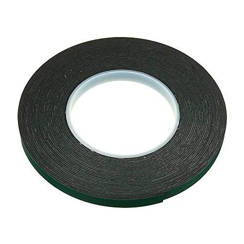 RENCALO 10m Doppelseitiges Klebeband schwarzen Schaumstoff Sticker 10/12/20/30/40 / 50mm Breite für Auto-Haus im Freien Fest-20mm