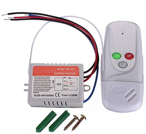 SaySure - Interruptor de control remoto de la lámpara de 1 vía antiinterferencia.