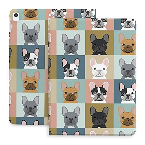 French Bulldog Frenchie Dog iPad Case 2019/2020 iPad 7/8th Generation Case, iPad Smart Cover Leather iPad Case, Protective Shell Cover for 2020 iPad -10.2'/ iPad Air 3 / iPad Pro -10.5'