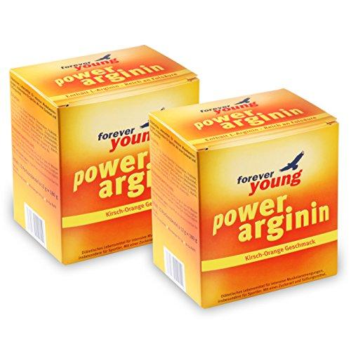 Forever Young Power Arginin, 2x 30 Beutel à 12g, Kirsch-Orange