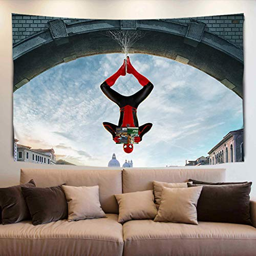Leorealko Superhéroe Avengers Wallcloth Tapiz Red Fondo Rojo Tela Tapiz Toalla de Playa 180 * 130CM L65