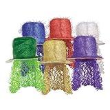 Beistle 1-Pack Tinsel Top Sombrero con Peluca Rizada