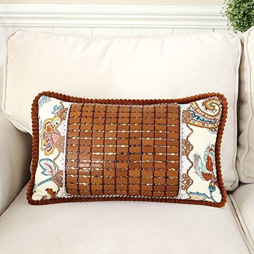 Throw Pillow Lumbar Pillows Cushions Lumbar Support Pillow Back Cushion Ergonomic Back Best Lower Orthopedic Back Pillow Bamboo Sheet Mat GAOFENG (Color : Inflorescence)