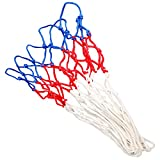 EDRLAITY Net Replacement for Mini Basketball Hoop with 6 Loops, All Weather Anti Whip, Fits Rims 5'-7', Ball Diameter Less Than 4.2'