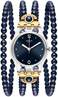 Swatch Originals Women's Blue Dial Plastic Band Watch - LK352