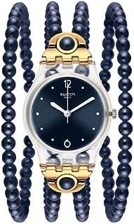 Swatch Originals Women's Blue Dial Plastic Band Watch - LK352