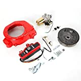 Auto Car Engine Electric Starter Kit Motor Flywheel Charging Coil Ignition Ring Gear Set + Fan Cover for HONDA GX160 5.5HP/GX200 6.5HP
