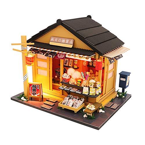 FZ FUTURE DIY Mini Dollhouse Wooden Furniture Kit, Miniatur Puppenhaus Mit Licht Musik Mini Handgefertigte Dollhouse Kit DIY House, Mini Haus Raumdekoration Für Kinder Und Eltern