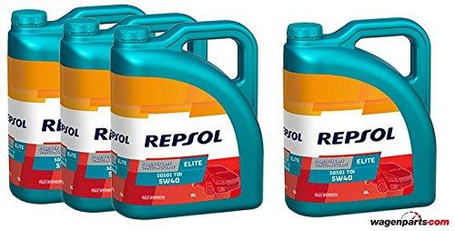 Repsol Aceite Motor Elite TDI 50501 5W-40 20 litros (4x5 litros)
