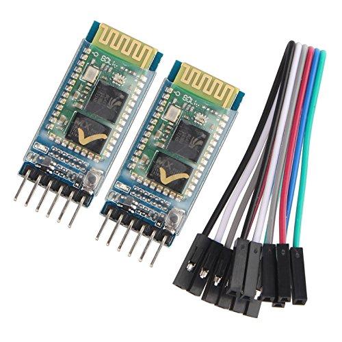 HALJIA 2 módulos de comunicación Bluetooth inalámbrica HC-05 RS232, módulos de transmisión maestro y esclavo