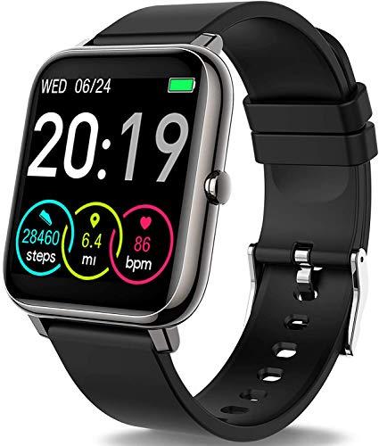 Smartwatch, Motast Fitnessuhr 1.4 Zoll Voll Touchscreen Fitness Tracker mit Pulsmesser und Schlafanalyse, Musiksteuerung, Kamerasteuerung, Sport Armbanduhr für Damen Herren für iOS Android Handy
