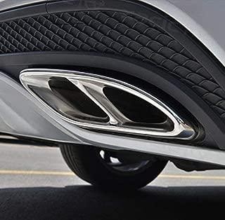 Silve YIWANG Edelstahl Exterior Zubeh/ör Auspuff Endrohr Dekoration Rahmen Abdeckung Blenden F/ür Benz GLE GLC GLS W167 X253 X167 2019 2020 Auto Zubeh/ör
