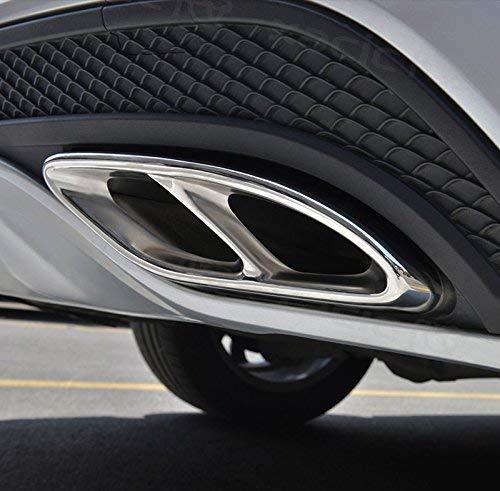 Preisvergleich Produktbild Topauto Auto Zubehör AMG Edelstahl Auspuff Verkleidung für Mercedes Benz GLC A B C E Klasse W205 Coupe-W176 W246 20162017 Auto Styling Teile (schwarz)