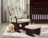 Suite Bebe Victoria Glider with Ottoman in Espresso and Beige - Quick Ship