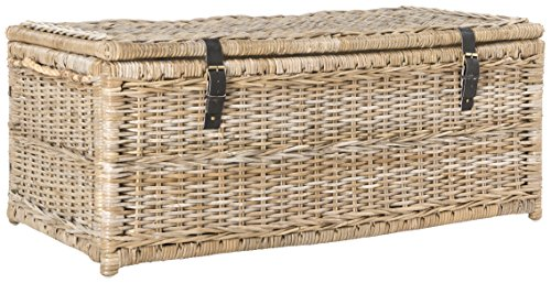wicker trunk coffee table - 7