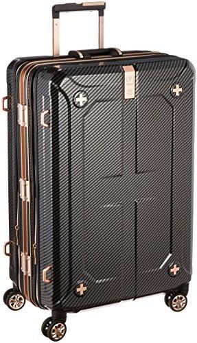[レジェンドウォーカー] スーツケース ダブル拡張機能搭載 90L(最大120L) 69cm 7.2kg 保証付 69 cm 6707-69 ラフカーボンブラックシルバー