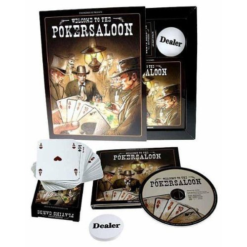 Welcome to the Pokersaloon (inkl. Pokerkarten & Dealer Button)