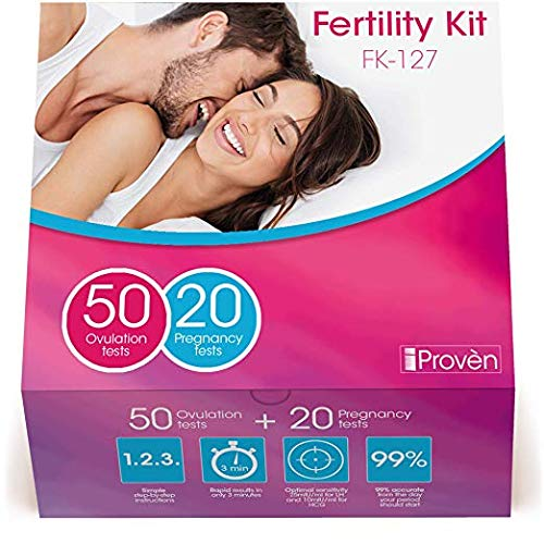 Fertility Kit with Ovulation Test Strips and Pregnancy Test